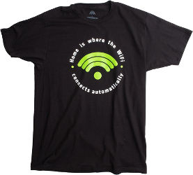 Image for Home is where Wifi Connects Automatically T-Shirt