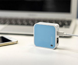 Image for TP-Link N300 Wireless Wi-Fi Nano Travel Router